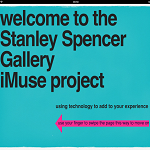 iMuse in the Stanley Spencer Gallery